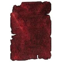 Hand-Tufted Indo Jalwa 3 Dark Red Rug (5'2 x 7'6)