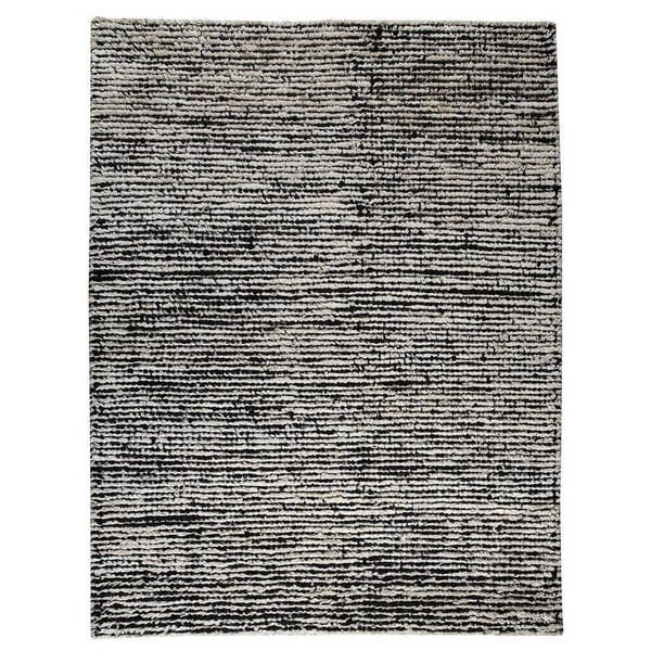 Handmade M.A.Trading Indo Nature White/ Black Rug (8'3 x 11'6) (India)