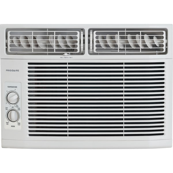 Frigidaire White FFRA1011R1 10,000 BTU 115V Window-Mounted Mini-Compact Air Conditioner with Mechanical Controls