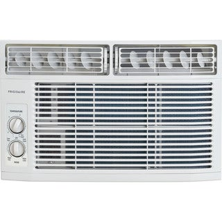 Frigidaire White FFRA0611R1 6,000 BTU 115V Window-Mounted Mini-Compact Air Conditioner with Mechanical Controls