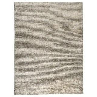 Handmade M.A.Trading Indo Nature White/ White Rug (8'3 x 11'6) (India)