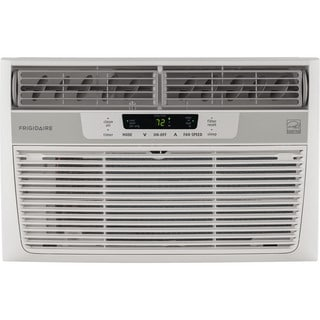 Frigidaire White FFRE0633S1 6,000 BTU 115V Window-Mounted Mini-Compact Air Conditioner with Full-Function Remote Control