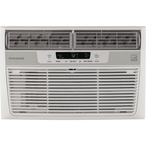 Frigidaire White FFRE0833S1 8,000 BTU 115V Window-Mounted Mini-Compact Air Conditioner with Temperature-Sensing Remote Control