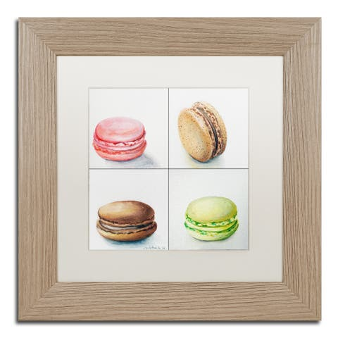 Jennifer Redstreake '4 Macarons' Matted Framed Art