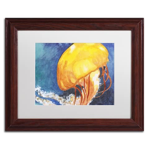 Jennifer Redstreake 'Jelly Fish II' Matted Framed Art