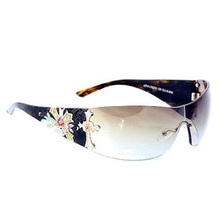 Ed Hardy EHA Cross Olive and Brown Cross Sunglasses
