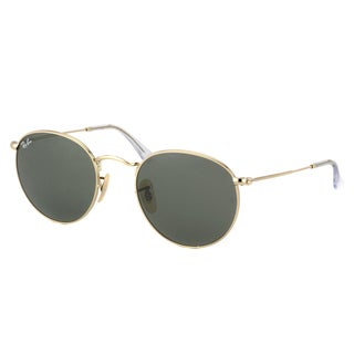 Ray-Ban Round Metal RB 3447 001 Arista Gold Frame Green Lens Sunglasses