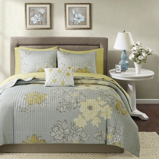The Gray Barn Sleeping Hills Grey Complete Coverlet and Cotton Sheet Set