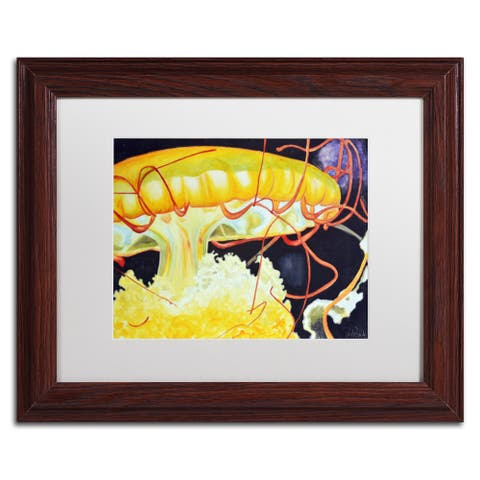 Jennifer Redstreake 'Chattanooga Jelly Fish' Matted Framed Art - multi