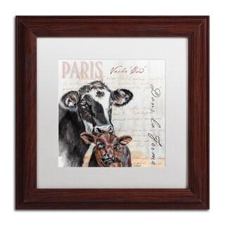 Jennifer Redstreake 'Dans la Ferme Cow' Matted Framed Art