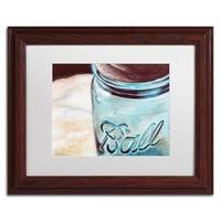 Jennifer Redstreake 'Ball Jar' Matted Framed Art