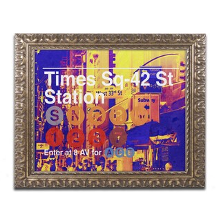 Philippe Hugonnard 'Subway City Art NYC' Ornate Framed Art