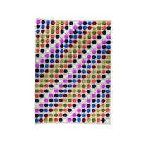 M.A.Trading Hand-Knotted Indo Smarties White/ Multi Rug (8'3 x 11'6)