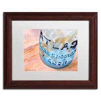 Jennifer Redstreake 'Atlas Jar' Matted Framed Art