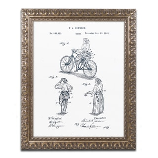 Claire Doherty 'Cycling Skirt Patent 1885 White' Ornate Framed Art