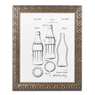 Claire Doherty 'Coca Cola Bottle Patent 1937 White' Ornate Framed Art