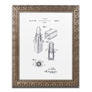 Claire Doherty 'Chanel Lipstick Case Patent White' Ornate Framed Art
