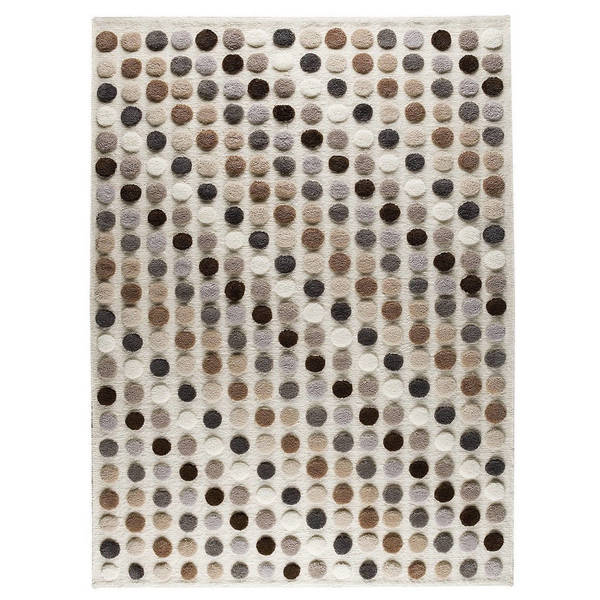 Handmade M.A.Trading Indo Smarties Natural/ Multi Rug (9'x12') (India)