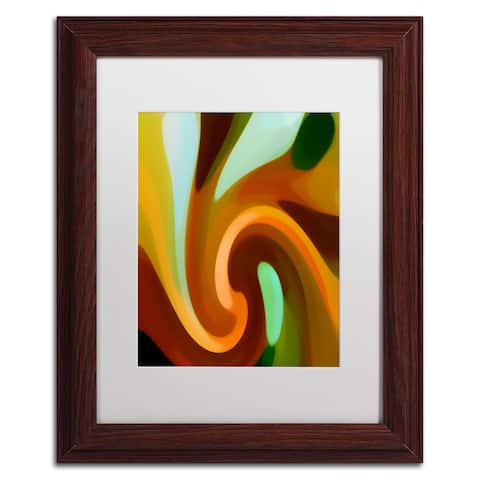 Amy Vangsgard 'Wind In Tree Vertical 2' Matted Framed Art