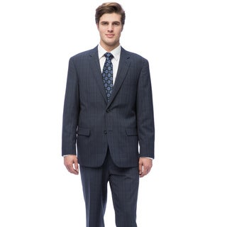 Caravelli Men's Navy Plaid Suit