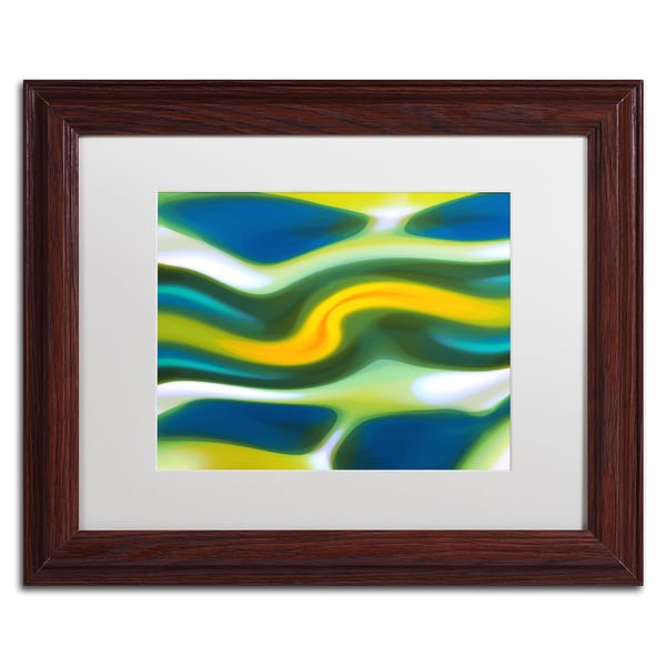 Amy Vangsgard 'Spring Stream 1' Matted Framed Art