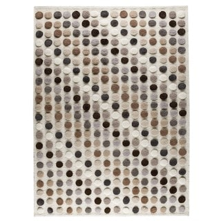 M.A.Trading Hand-Knotted Indo Smarties Natural/ Multi Rug (6'6 x 9'9)
