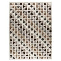 Handmade M.A.Trading Indo Smarties Natural/ Multi Rug (6'6 x 9'9) (India)