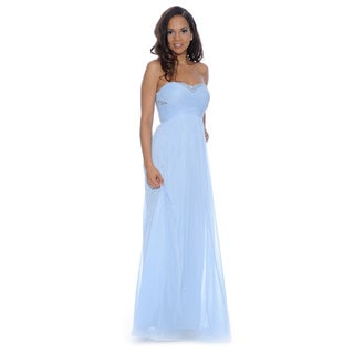 Decode 1.8 Women's Baby Blue Beaded Prom Gown
