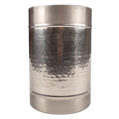 Modern Hammered Brass Champagne Ice Bucket