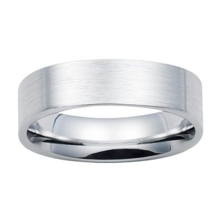 Boston Bay Diamonds 7mm Colbolt Chrome Flat Edge Band