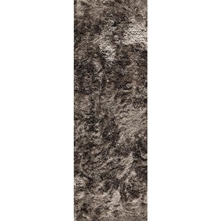 Hand-woven Indo Dubai Silver Rug (2'8 x 7'10)