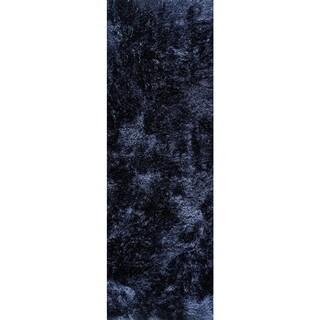 Hand-woven Indo Dubai Navy Rug (2'8 x 7'10)