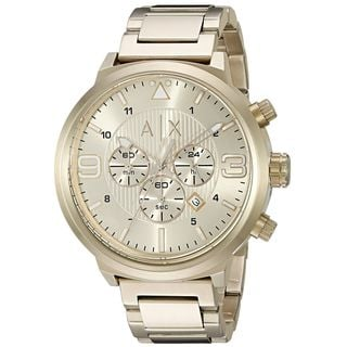 Armani Exchange Men's AX1368 'ATLC' Chronograph Gold-Tone Stainless Steel Watch