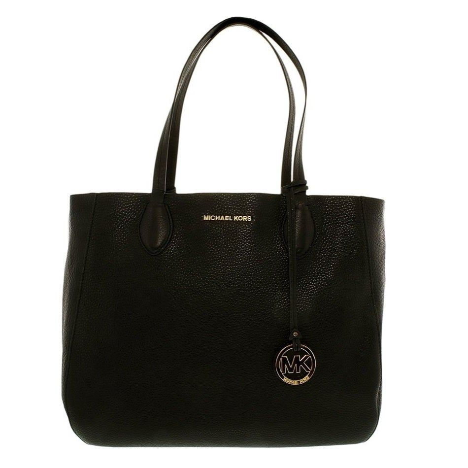 Michael Kors Mae Black/ Pale Gold Large East/ West Tote B...