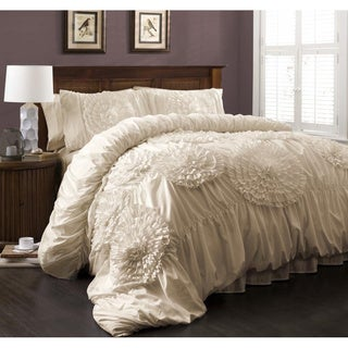 Lush Decor Serena 3-Piece Queen Size Comforter Set in Grey (As Is Item)