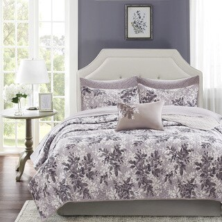 The Gray Barn Sleeping Hills Abbey Grey Complete Coverlet and Cotton Sheet Set