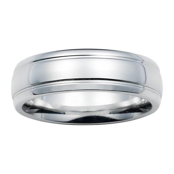 boston bay diamonds comfort fit 7mm colbolt chrome men 39 s wedding band