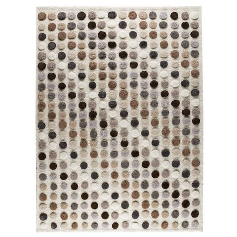 Handmade M.A.Trading Indo Smarties Natural/ Multi Rug (2'8 x 7'10) (India)