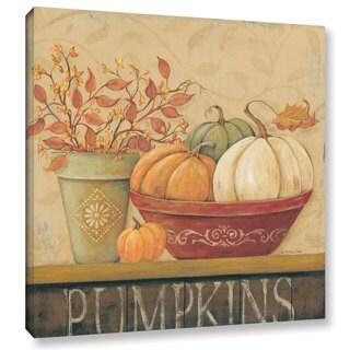 ArtWall Jo Moulton's 'Pumpkins' Gallery Wrapped Canvas
