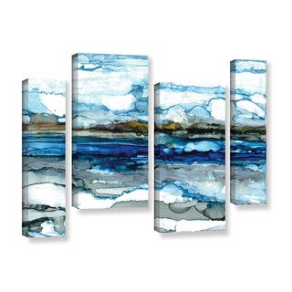 ArtWall Norman Wyatt JR's 'Silver Coast'  4-piece Gallery Wrapped Canvas Staggered Set