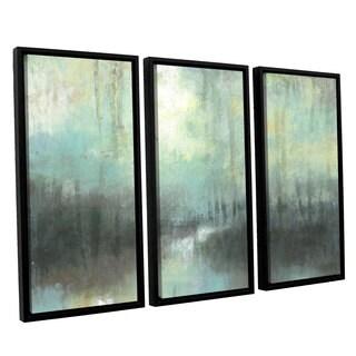 ArtWall Norman Wyatt JR's 'Overcast' 3-piece Floater Framed Canvas Set
