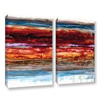 ArtWall Norman Wyatt JR's 'Innermost'  2-piece Gallery Wrapped Canvas Set
