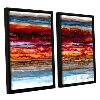 ArtWall Norman Wyatt JR's 'Innermost'  2-piece Floater Framed Canvas Set