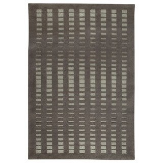 Hand-knotted Indo Merano Grey Rug (5'6 x 7'10)