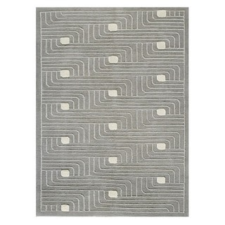 M.A. Trading Hand-knotted Indo Verona Grey Rug (5'6 x 7'10)