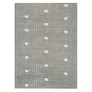 M.A.Trading Hand-Knotted Indo Verona Grey Rug (5'6 x 7'10)