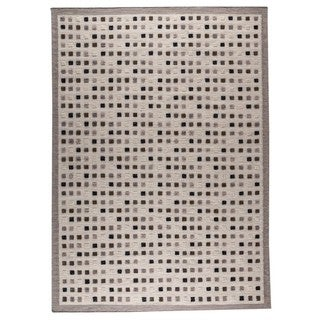 M.A.Trading Hand-Woven Indo Khema1 Grey Rug (5'6 x 7'10)