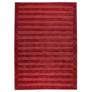 M.A. Trading Hand-knotted Indo Chicago Red Rug (5'6 x 7'10)