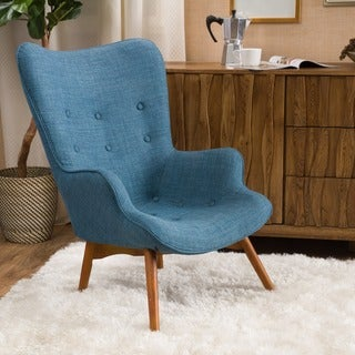 Link to Hariata Fabric Contour Chair by Christopher Knight Home Similar Items in Accent Chairs