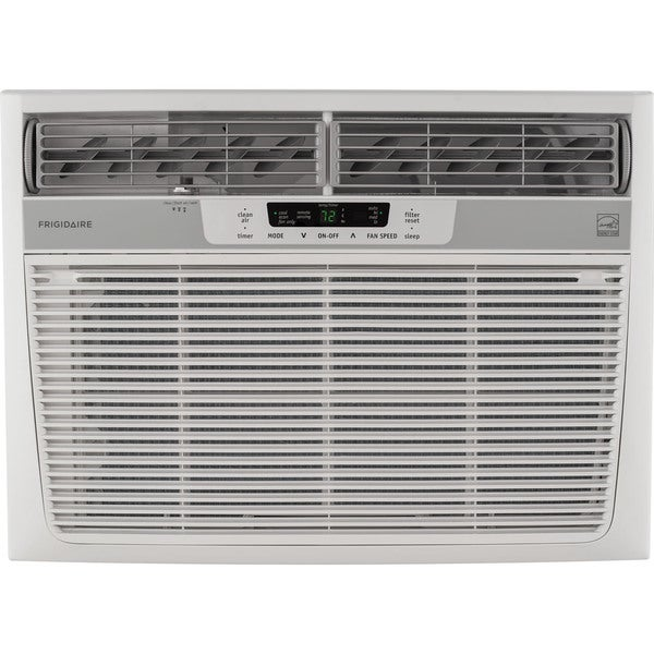 Frigidaire FFRE1533S1 15,000 BTU 115V Window-Mounted Median Air Conditioner with Temperature Sensing Remote Control - White